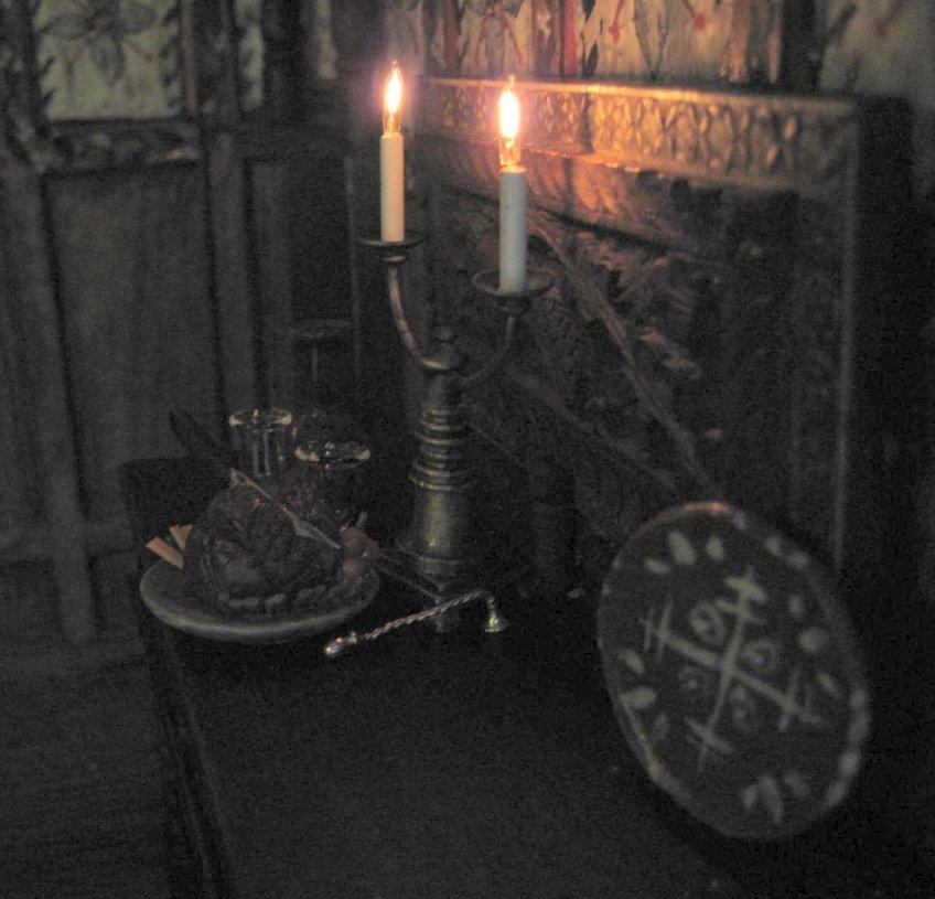 Jacobean sideboard in Dining Room
