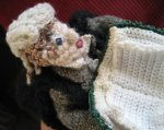 Crocheted figure – Barrister