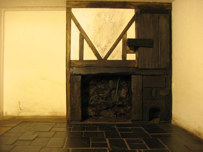 theinfill - Tudor kitchen fireplace in place