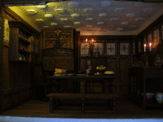Tudor Jacobean dining room