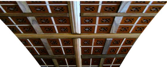 Distorted Great Hall ceiling