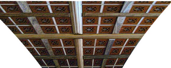 Coloured pencil artistic effect to ceiling