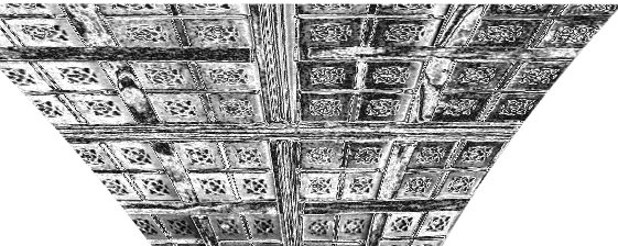 Plain pencil artistic effect to Great Hall ceiling plan