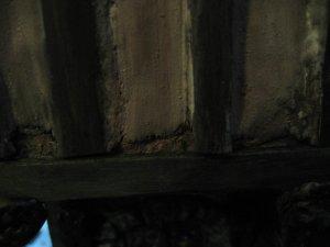 Tudor external infill plaster work in need of repair