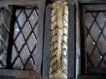 Reverse fish scale infill in Jacobean dolls house wall