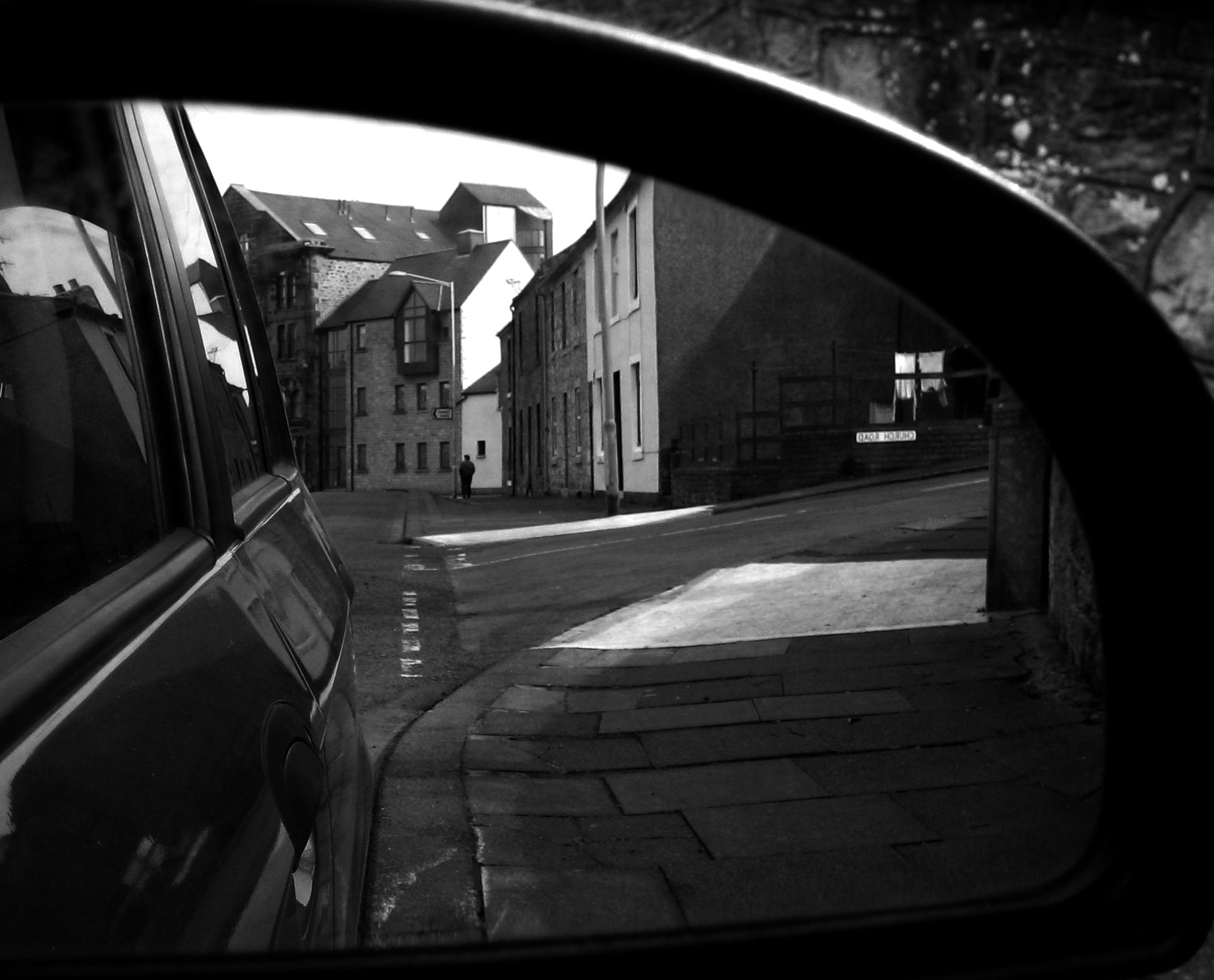 theinfill - Img_8282 - Lowry type street in wing mirror