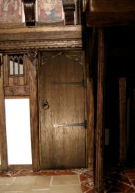 theinfill - Great Hall Tudor to Jacobean - mock up of door in place