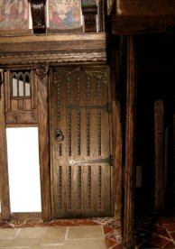 theinfill - Great Hall Medieval to Jacobean - mock up of studded door