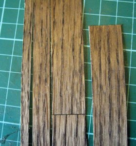 theinfill - 1/12th scale dolls house oak flooring boards