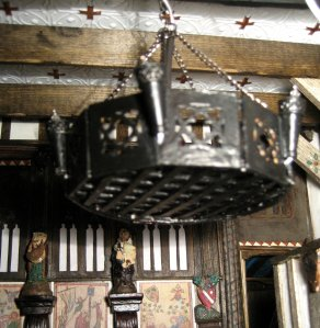 theinfill - Dolls house Medieval to Jacobean ceiling light design