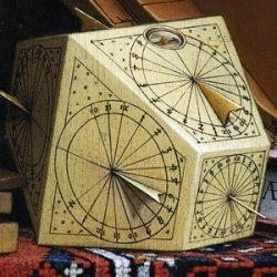 """theinfill - Medieval, Tudor to Jacobean Great Hall - Polyhedral sundial - """"The Ambassadors"""""""