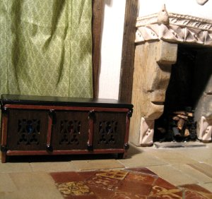 theinfill - Medieval, Tudor to Jacobean dolls house - coffers and chests - changing things