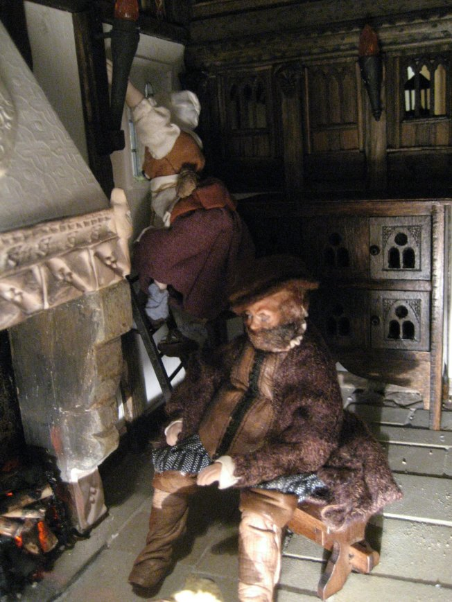 theinfill - 1:12 figures in Medieval to Jacobean dolls house setting