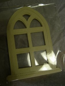 theinfill - Medieval, Tudor and Jacobean dolls house – Gothic - die-cut card window shape