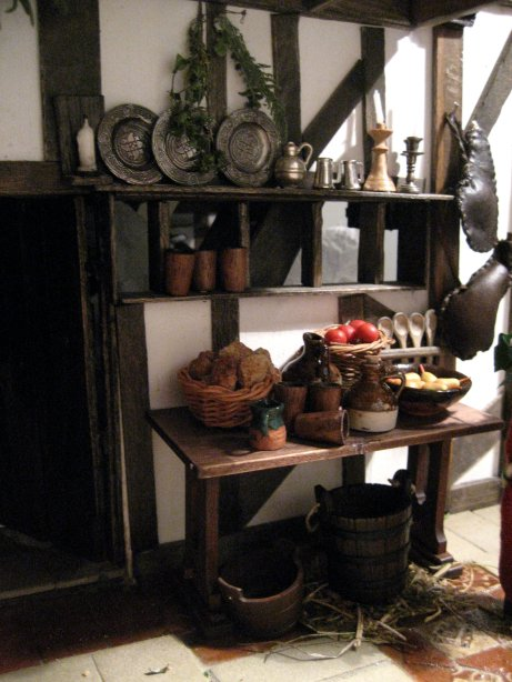 theinfill - Tudor to Jacobean Dolls house blog - hasty sideboard and pewter