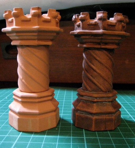 theinfill - Tudor, Elizabethan and Jacobean doll's house blog site --- Tudor Chimney pots from Romney Miniatures