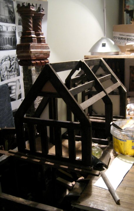 theinfill blog – Medieval, Tudor, Jacobean dolls house – building a roof