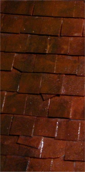 theinfill – Medieval, Tudor and Jacobean dolls house blog – tiling a roof with Richard Stacey Vari-tiles.