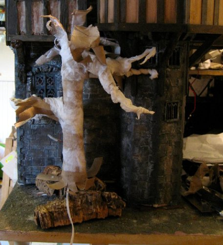 theinfill dolls house blog – Medieval, Tudor and Jacobean model house – hiding the external mains wiring