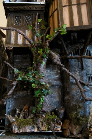 theinfill Medieval, Tudor and Jacobean dolls house blog – Great Hall extension - hiding a wire with a tree