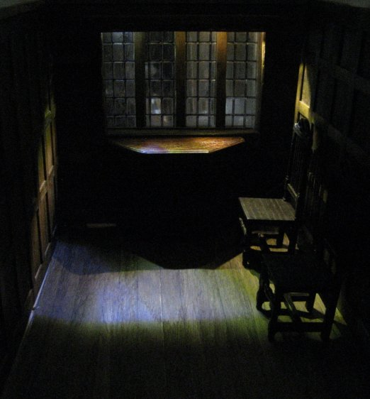the infill, theinfill - Long Gallery, Jacobean dolls house, lighting
