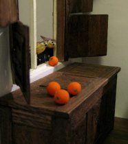 theinfill - Medieval, Tudor, Jacobean dolls house blog - J van Eyck's Arnolfini portrait - the room