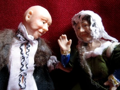 theinfill - Medieval, Tudor, Jacobean dolls house blog - J van Eyck's Arnolfini portrait - the couple together