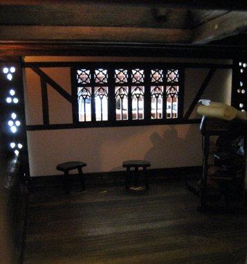 theinfill - Medieval, Tudor, Jacobean dolls house - sliding fourth wall