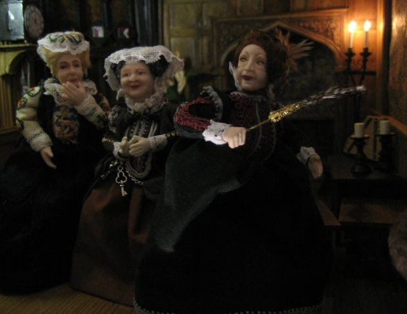 theinfill - Medieval, Tudor, Jacobean dolls house blog - 1:12 scale dolls --- chatting friends