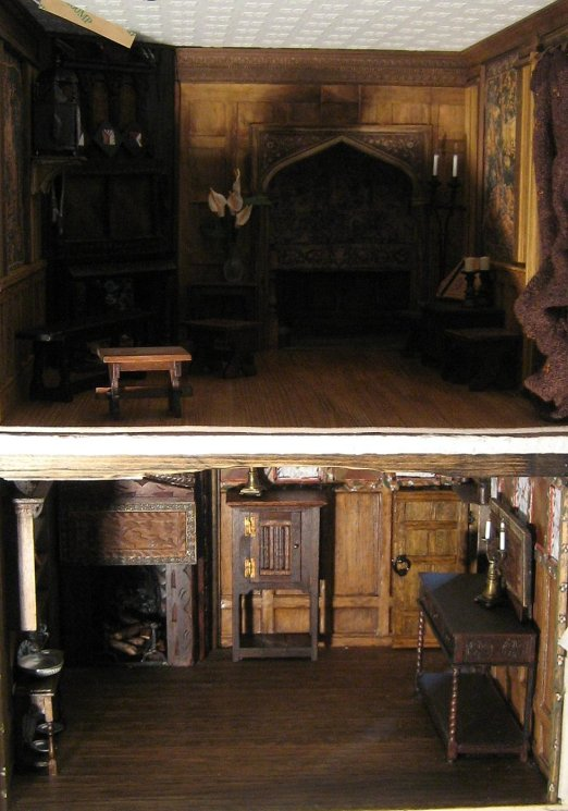 theinfill - Medieval, Tudor, Jacobean dolls house blog - Sitting Room over Dining Room