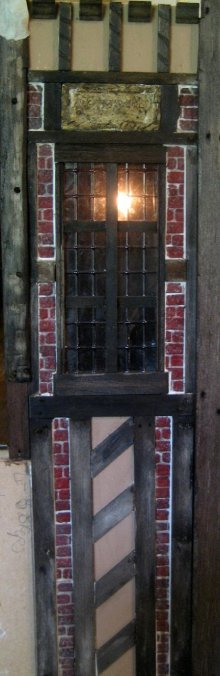 theinfill - Medieval, Tudor, Jacobean dolls house blog -external wall surface to Long Gallery a turn on the stair