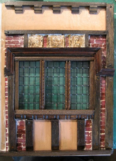 theinfill doll's house blog - Medieval, Tudor, Jacobean doll's house - external wall