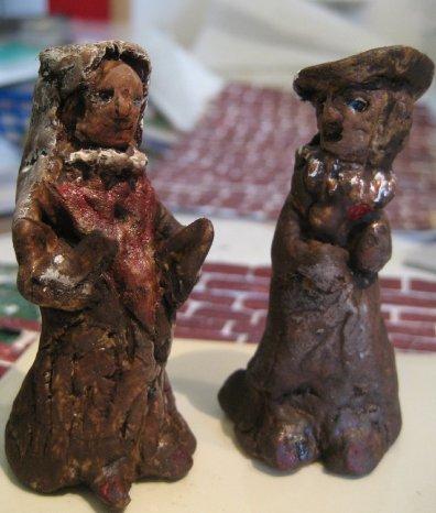 theinfill doll's house blog - Medieval/Tudor/Jacobean - DAS clay gargoyles and figures