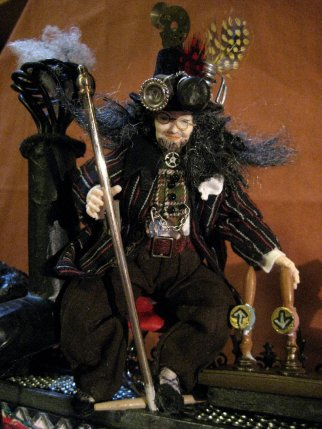 theinfill on a steampunk theme - dressing 1:12 scale figure - man -