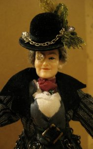 theinfill on a steampunk theme - dressing 1:12 scale figure - woman -