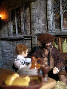theinfill doll's house blog - Medieval/Tudor/Jacobean - Great Hall 1:12 figures