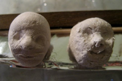 theinfill - trying air drying clays - Medieval, Tudor and Jacobean dolls' house
