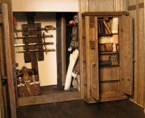 Panelling and plastering - theinfill dolls house blog - Medieval, Tudor and Jacobean