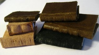 Leather bound mini books - theinfill dolls' house blog - Medieval, Tudor and Jacobean