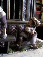 theinfill – the infill – Tudor, Elizabethan, Jacobean Dolls House Blog – Front Porch - figures out and in the porch
