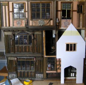 theinfill – the infill – Tudor, Elizabethan, Jacobean Dolls House Blog - building a removable porch out of foamboard