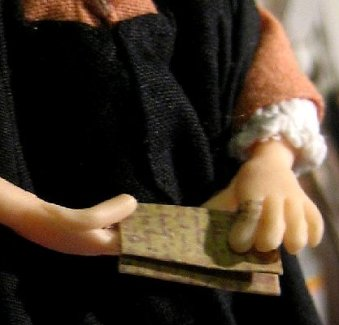 theinfill – the infill – Tudor, Elizabethan, Jacobean Dolls House Blog - tale of two offices - 1:12 figure of James the clerk
