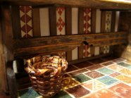 theinfill – the infill – Tudor, Elizabethan, Jacobean Dolls House Blog – Front Porch internal dressing - serving table in porch