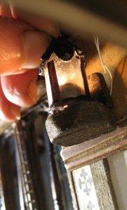 theinfill – the infill – Tudor, Elizabethan, Jacobean Dolls House Blog – Front Porch internal dressing - Horn tallow lamps