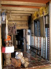 theinfill – the infill – Tudor, Elizabethan, Jacobean Dolls House Blog – Front Porch - lamps, ceiling, furniture