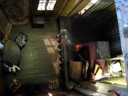 theinfill dolls house blog - Medieval, Tudor, Jacobean 1:12 dolls house - bringing together two halves of a room