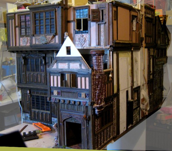theinfill – the infill – Tudor, Elizabethan, Jacobean Dolls House Blog – Front Porch - Porch to Great Hall
