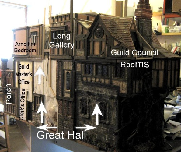theinfill – the infill – Tudor, Elizabethan, Jacobean Dolls House Blog – Front Porch - Great Hall to Porch