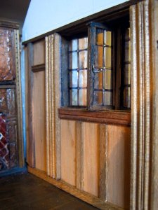 theinfill – the infill – Tudor, Elizabethan, Jacobean Dolls House Blog – Front Porch - sitting room gable wall