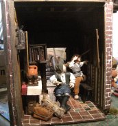 theinfill dolls house blog - Medieval, Tudor, Jacobean 1:12 dolls house – Porch finishing edges and tiling